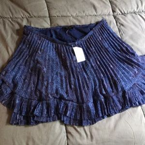 Banana Republic Blue Snake Print Skirt